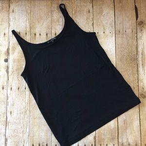 Eileen Fisher Black Silk Tank Top. Size medium
